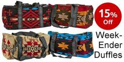 Weekender Duffle Bag - Acrylic Jacquard Weave