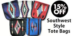 Southwest Style Tote Bags - Assorted