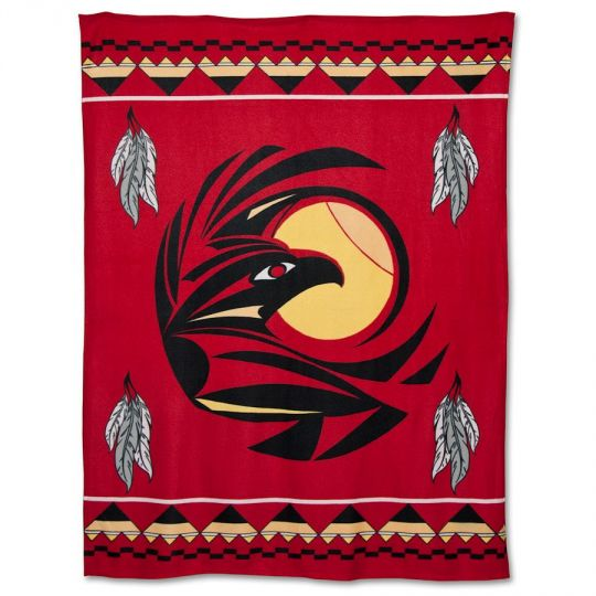Native American Fleece Blankets - Raven by Missouri River