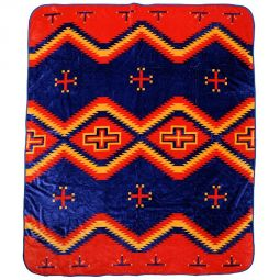 Plush Acrylic Southwest Design Blanket - Toadlena
