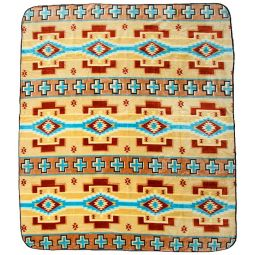 Plush Acrylic Southwest Design Blanket - Wide Ruins