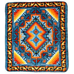 Plush Acrylic Southwest Design Blanket - Ganado