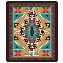 Plush Acrylic Southwest Design Blanket - Klagetoh