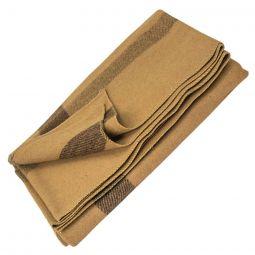 """Vintage Camp Style Blanket - Tan, 60""""x80"""""""