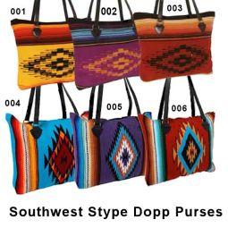 "Southwest Style Dopp Purses, 14""x17"""
