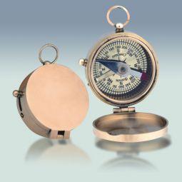 """Brass Compass, Hinge Top 1-3/4"""" Diameter"""