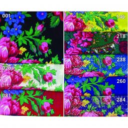 Acrylic Scarves - Floral Patterns