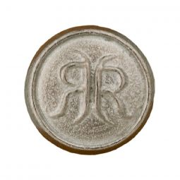 Pewter Buttons RR – Rogers Rangers, 1/2""