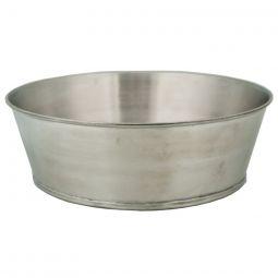 """Tin Wash Basin- 10"""" dia. x 3"""" deep"""