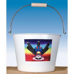 Enamel Water Bucket (Peyote)