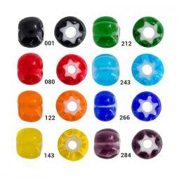 Preciosa Cornelian Star Beads - 7mm