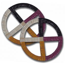 Quilled Wheels - Sioux Indian Made