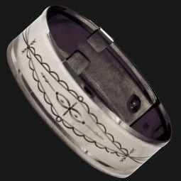 "German Silver Armbands - 1"" Stamped"