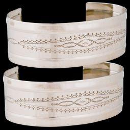 "German Silver Bracelets - 1"" Stamped"