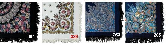 Floral Design Wool Shawls