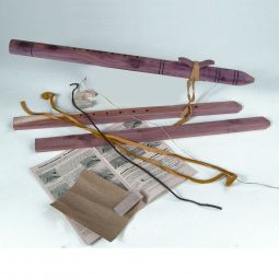 Native American Style Cedar Flute Kit, Pre-Drilled Holes