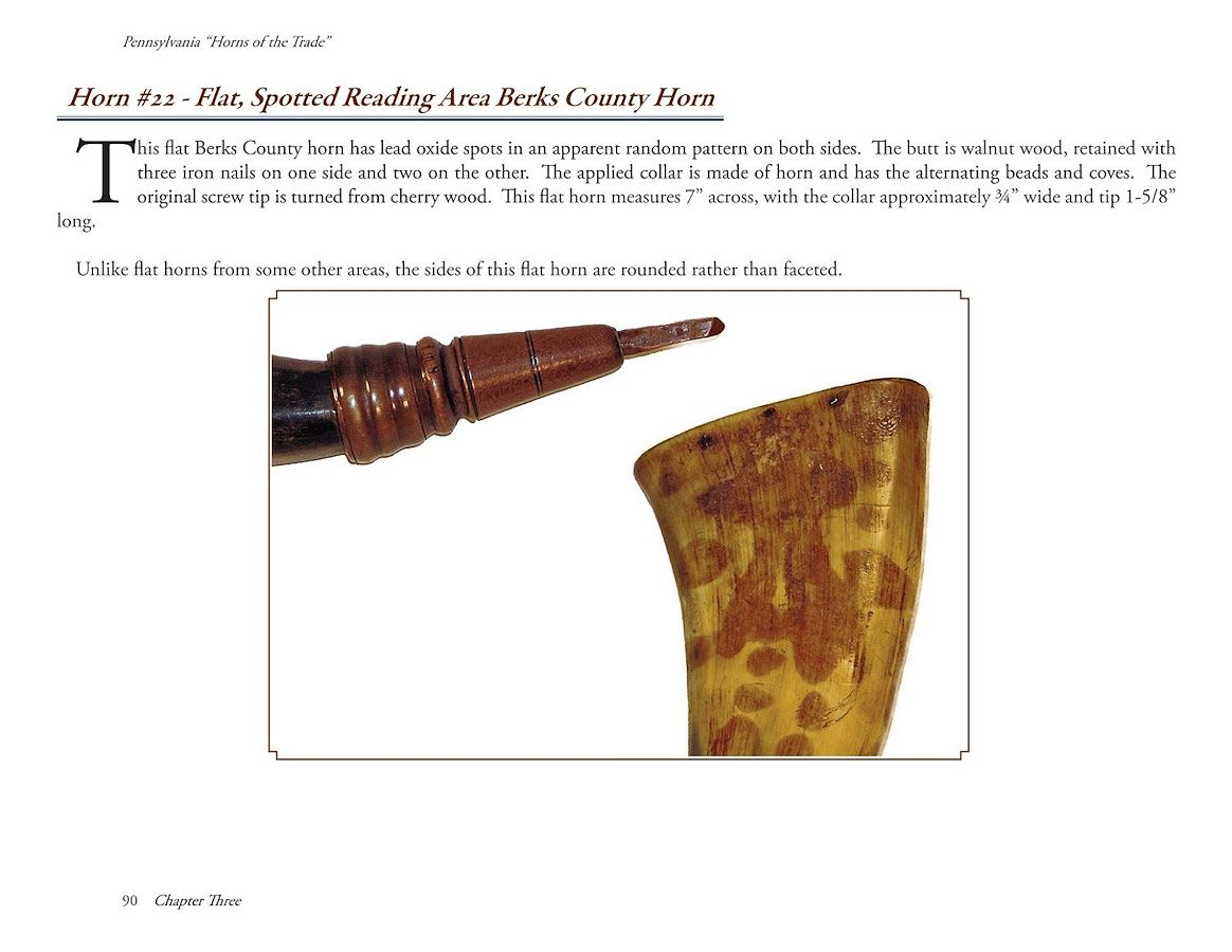 Pennsylvania 'Horns of the Trade' Screw-tip Powder Horns & Their Architecture