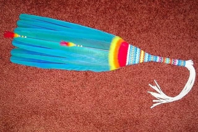 Native American Fan & Gourdstitch Beadwork