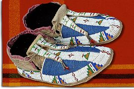 Making Native American Moccasins Craft Article From Crazy Crow Trading Post