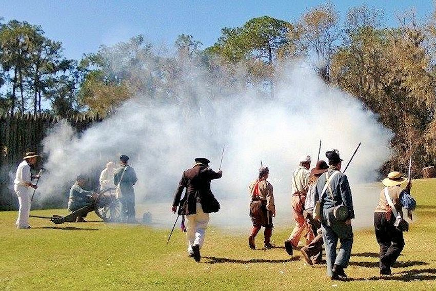 Fort Foster Rendezvous - Fort Foster State Historic Site - Florida Frontier Living History - School Days at Fort Foster