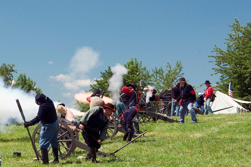The Battle of Richmond Reenactment is sponsored by the Battle of Richmond Association at Battlefield Park