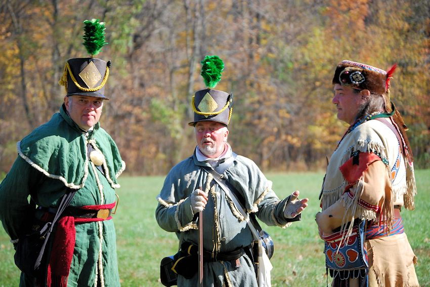 Muster on the Wabash War of 1812 Reenactment