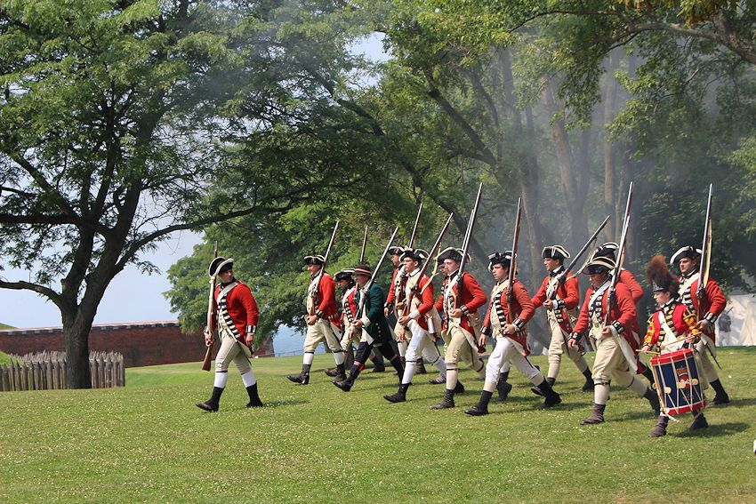 Old Fort Niagra French & Indian War Battle Reenactment