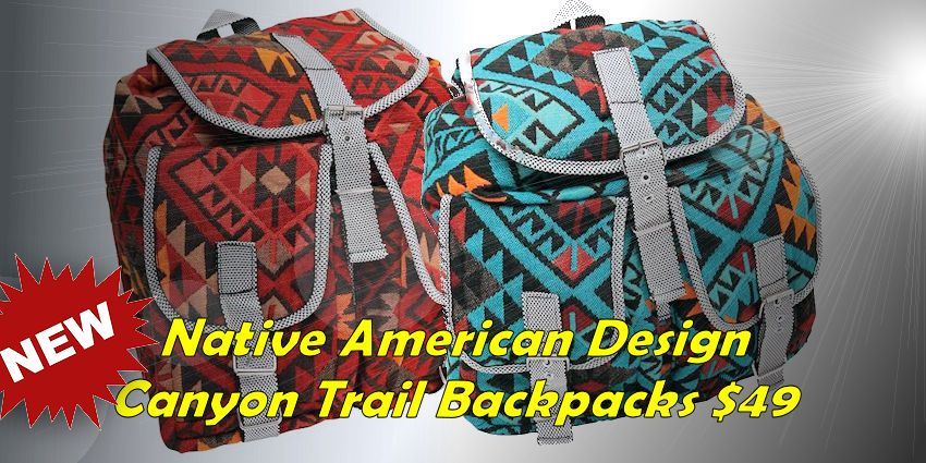 Native American Design Backpack - Canyon Trails