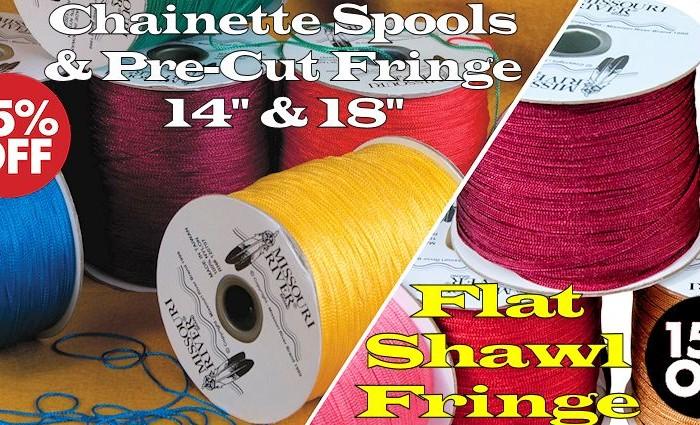 Shawl Fringe Sale - 1800 yard Chainette Spools, 14