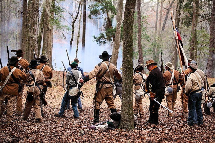Battle for Broxton Bridge Reenactment - Broxton Bridge Plantation - Battery C, 32nd Georgia Artillery - 2nd Georgia Regiment Co. D Burke Sharpshooters