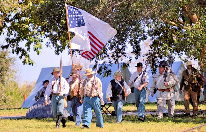 Battle of Okeechobee Reenactment - Okeechobee Battlefield Historic State Park - Okeechobee Battlefield Friends Inc