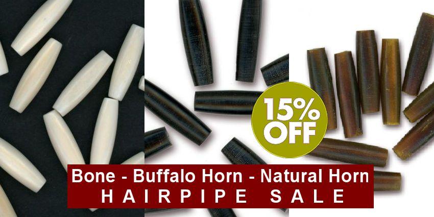 Hairpipe Sale: Bone, Buffalo & Natural Horn