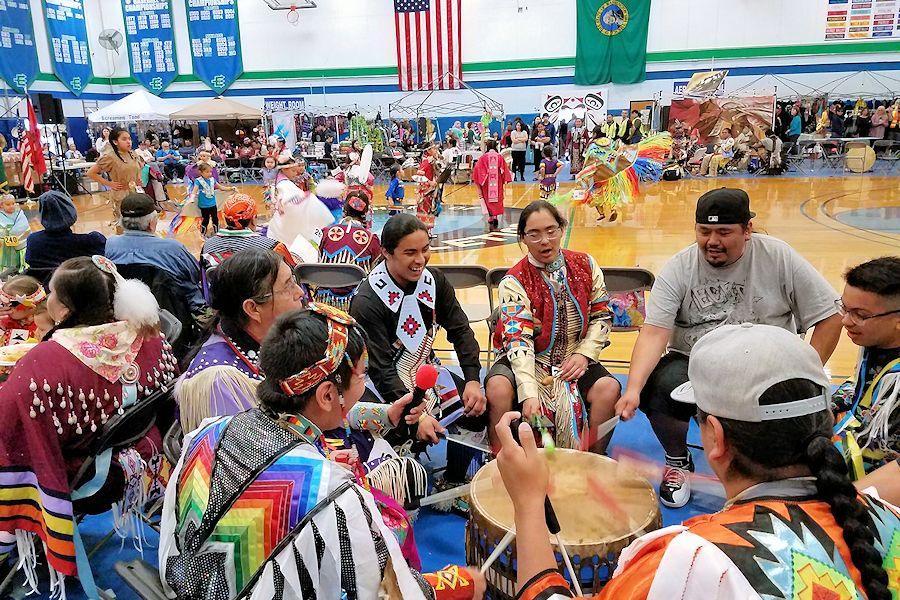 Edmonds Community College Powwow - Edmonds Community College Seaview Gymnasium - Edmonds Community College Native Student Association