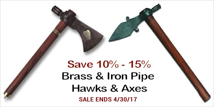 Brass & Iron Pipe Hawks & Axes - Crow Calls Sale