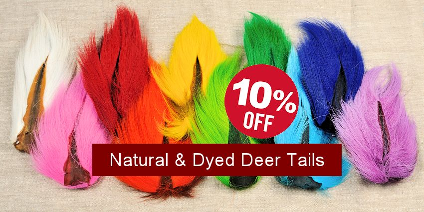 Save 10% - Dyed & Natural White Deer Tails
