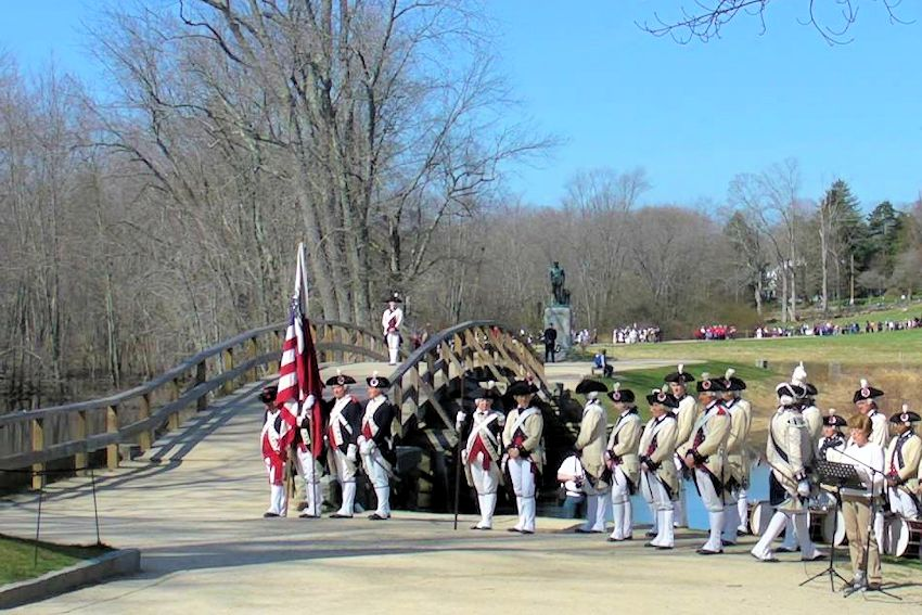 Lexington Tatoo and Muster - Minuteman National Historic Park Visitor Center - William Diamond Junior Fife and Drum Corps - Lexington Battle Green