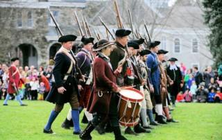 Patriots Day BattleonLexingtonGreen Reenactment - Lexington Battle Green - Lexington Minute Men
