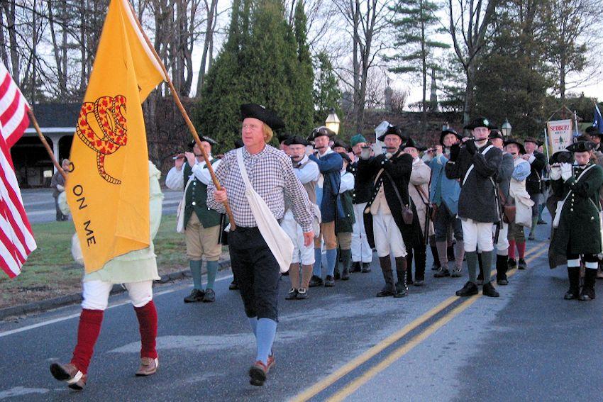Sudbury March to Concord - Sudbury Companies of Militia and Minute - Sudbury Ancient Fyfe and Drum Companie - First Parish In Wayland