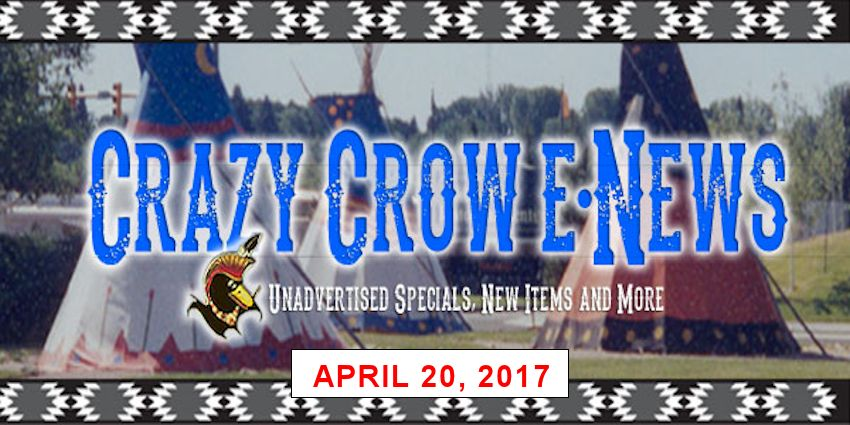 Crazy Crow eNews - Wednesday April 20, 2017