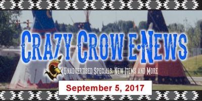 Crazy Crow E-News - Tuesday, September 5, 2017