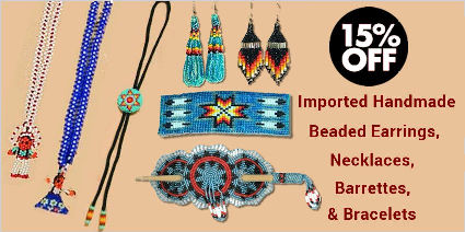 Imported Beadwork: Necklaces, Earrings, Barrettes, Bracelets