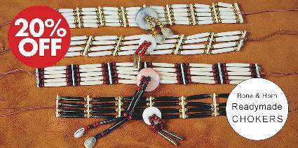 Readymade Bone & Horn Hairpipe Chokers