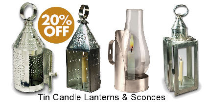 Tin Candle Lanterns & Sconces