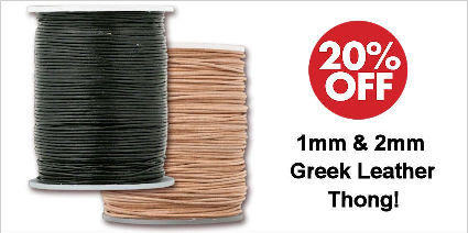 Greek Leather Cord 1mm & 2mm