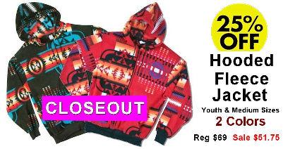 Hooded Fleece Jacket Closeout Sale