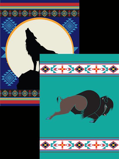 Native American Design Fleece Blankets