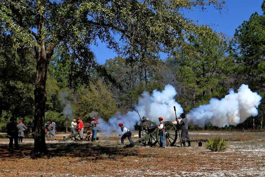 Battle of Natural Bridge Reenactment - Natural Bridge Battlefield Historic State Park - Natural Bridge Historical Society