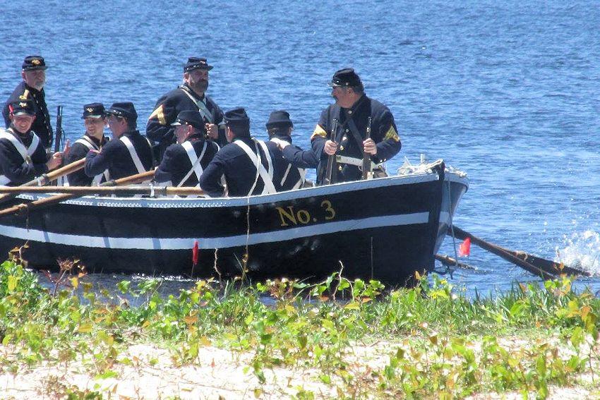 St Andrews Bay Salt Works Raid Reenactment - St Andrews Bay Salt Works Raid Reenactment Site - Pawnee Guard