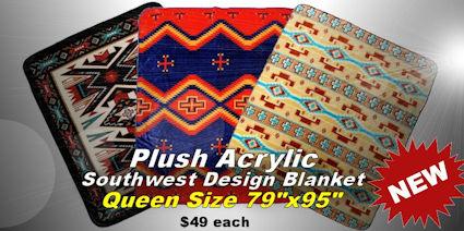 Plush Acrylic Southwest Design Blankets