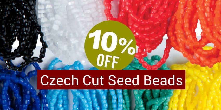 Save 10% - Czech Cut Seed Beads Size 13